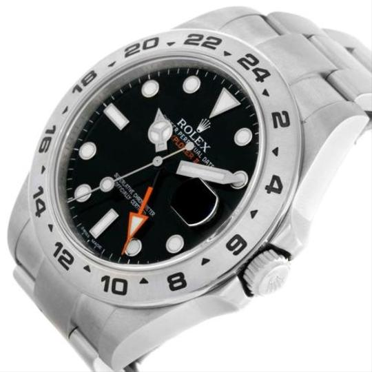 Rolex Rolex Explorer Ii Mens Stainless Steel Black Dial Watch 216570