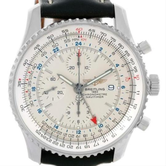 Breitling Breitling Navitimer World Chronograph Black Dial Steel Watch A24322