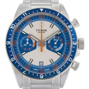 Tudor Tudor Heritage Chrono Blue Stainless Steel Mens Watch 70330 Unworn