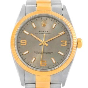 Rolex Rolex Non Date Mens Steel 18k Yellow Gold Watch 14233