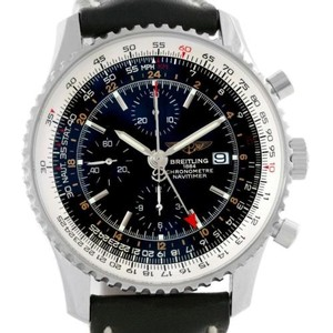 Breitling Breitling Navitimer World Chronograph Black Dial Watch A24322 Unworn