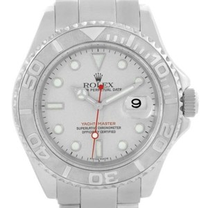 Rolex Rolex Yachtmaster Mens Stainless Steel Platinum Watch 16622