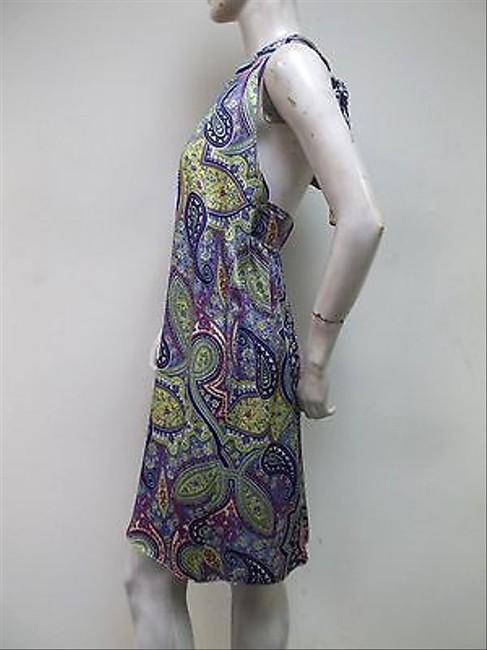 Alice & Trixie short dress Multi-Color Paisley Halter Usa Made 100 Silk on Tradesy