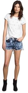 Rag & Bone Acid Washed Jean Retail Cut Off Shorts Blue