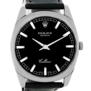 Rolex Rolex Cellini Danaos 18k White Gold Black Dial Watch 42439