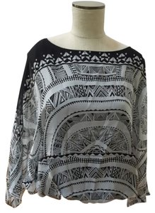 Twelfth St. by Cynthia Vincent Street Open Back Dolman Top Black/Gray