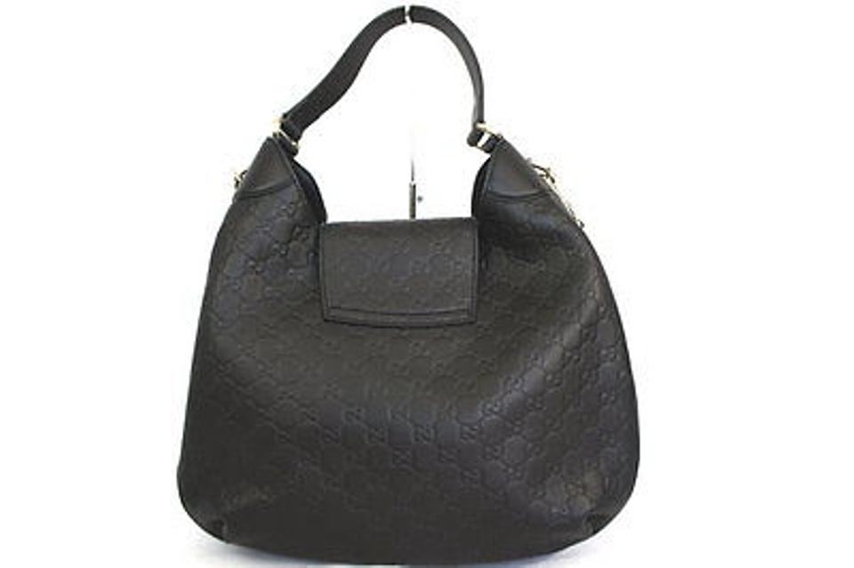 3229cd061a3 Gucci Emily Guccissima Leather Hobo Shoulder Bag Image 10. 1234567891011