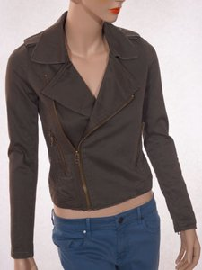 JOE'S Jeans Womens Olive Army Cotton Moto Green Jacket