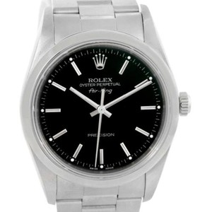 Rolex Rolex Oyster Perpetual Air King Black Dial Stainless Steel Watch 14000