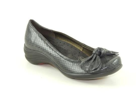 Hush Puppies Ave Womens Grey Snake Print Pump Loafers Black Flats