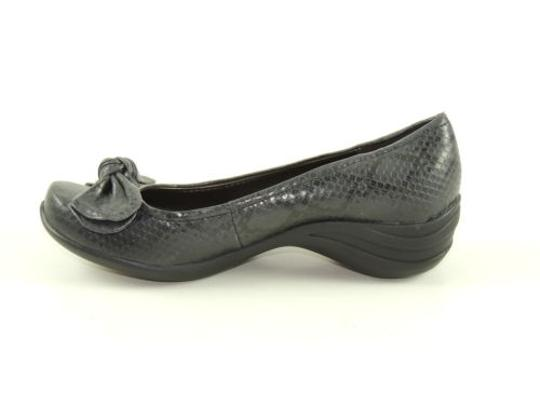 Hush Puppies Ave Womens Grey Snake Print Pump Loafers Black Flats Image 1