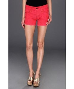 Free People People F380p282 Womens Grenadine Corduroy Cut Off Dolphin Hem Shorts Red