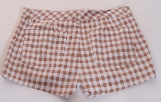 Splendid Womens White Checkered Plaid Gingham Swb7n375 Shorts Brown