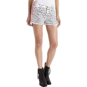 Current/Elliott Womens Leopard Multi Airbrush Boyfriend Cut Off Shorts Multi-Color