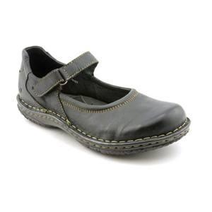 Børn Steph Womens Leather Mary W Black Flats