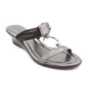 Alfani Orchard Womens Open Toe Wedge Gray Sandals