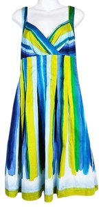 Calvin Klein short dress Multi-Color Striped on Tradesy