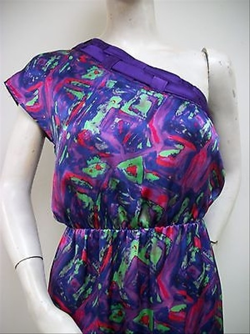 Smith Abstract Print Silk Satin One Dress