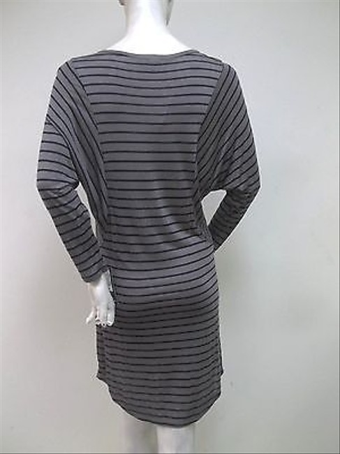 Other T Los Angeles Blue Striped Dolman Sleeve Modal Knit Dress