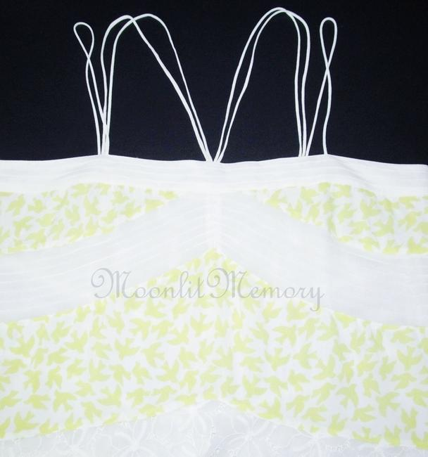 Anthropologie Leifnotes Birds Swing Tiered New Without Tags Top Yellow, White Image 2