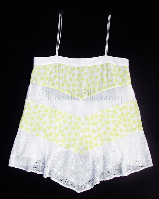 Anthropologie Leifnotes Birds Swing Tiered New Without Tags Top Yellow, White Image 3