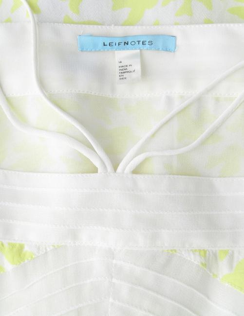 Anthropologie Leifnotes Birds Swing Tiered New Without Tags Top Yellow, White Image 4