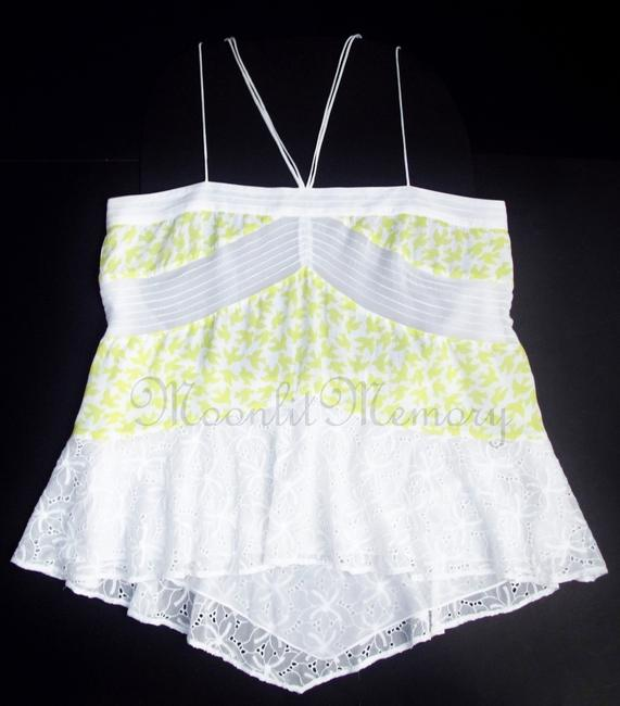 Anthropologie Leifnotes Birds Swing Tiered New Without Tags Top Yellow, White Image 5