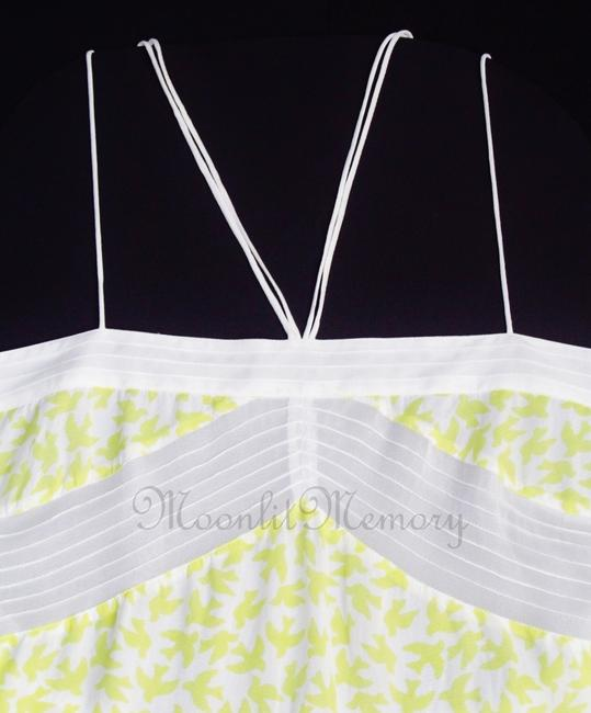 Anthropologie Leifnotes Birds Swing Tiered New Without Tags Top Yellow, White Image 7