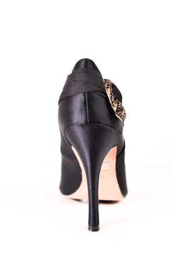 Badgley Mischka Embellished Pumps Satin Black Formal Image 1