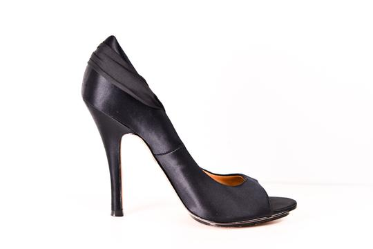 Badgley Mischka Embellished Pumps Satin Black Formal Image 2