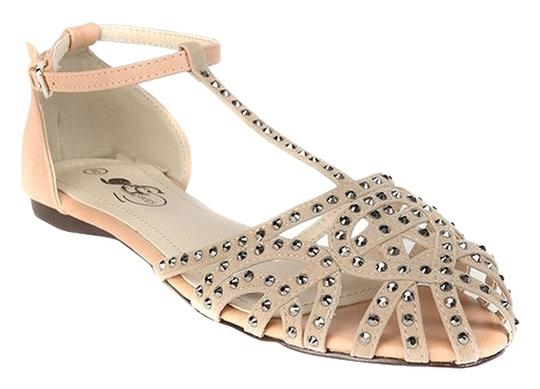 GC Studded Suede Date Night Night Out Beige Sandals
