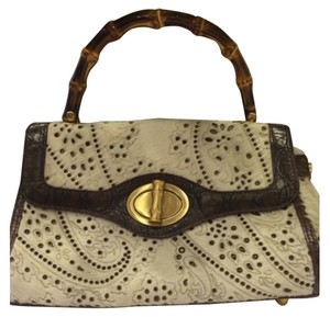 Elaine Turner Satchel in Ivory and Brown