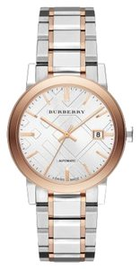 Burberry Burberry the City BU9322 Two Tone Silver Rose Gold Stainless Automatic Mens Watch