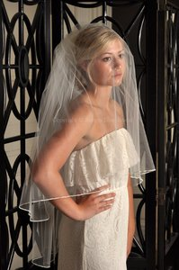 Two-tier Pencil Edge Bridal Veil