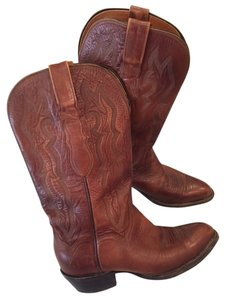 Lucchese Cowboy Leather Brown Boots