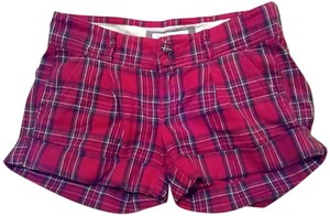 Abercrombie & Fitch Mini Cuffed Shorts red