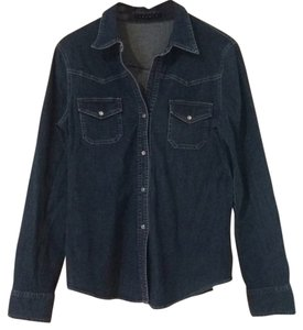 Theory Button Down Shirt Denim