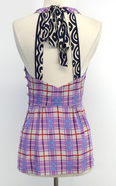 Tracy Reese Plaid Silk Halter Top