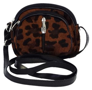 Valentina Leopard Print Calf Hair Small Crossbody Crossbody Shoulder Bag