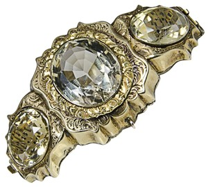 Antique Victorian Crystal Gold Bracelet