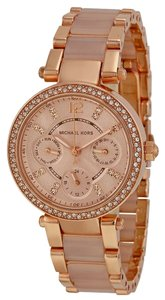 Michael Kors Michael Kors Rose Gold Dial Crystal Bezel Blush Acetate Ladies Watch