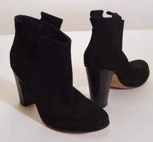 Other Lemare 0604 Womens Suede Cros Heels Ankle Italy Black Boots