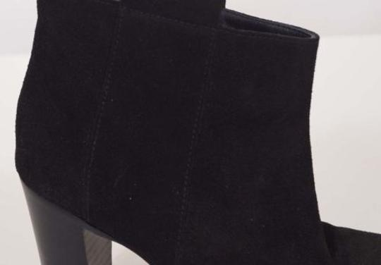 Other Lemare 0604 Womens Suede Leather Cros Heels Ankle Italy Black Boots Image 1