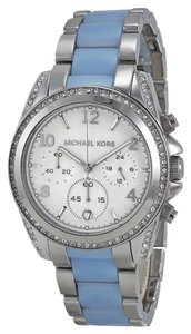 Michael Kors Michael Kors Blue and Silver Crystal Boyfriend Ladies Watch