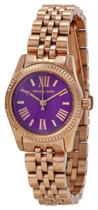 Michael Kors Michael Kors Small Purple Dial Rose Gold Ladies Watch