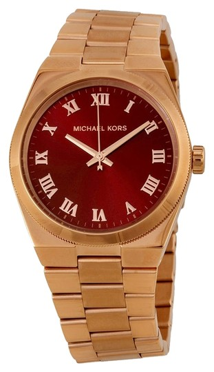 Preload https://item2.tradesy.com/images/michael-kors-michael-kors-red-dial-rose-gold-stainless-steel-ladies-watch-4376341-0-0.jpg?width=440&height=440