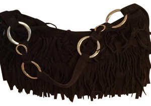 BCBGeneration Fringe Suede Shoulder Bag