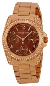 Michael Kors Michael Kors Rose Gold Red Dial Crystal Ladies Watch