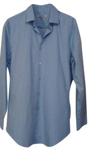 DKNY Business Button Down Button Down Shirt Blue