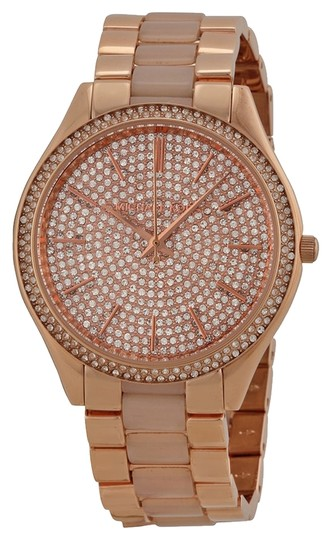 Preload https://item1.tradesy.com/images/michael-kors-michael-kors-rose-gold-crystal-pave-dial-luxury-ladies-watch-4376755-0-0.jpg?width=440&height=440